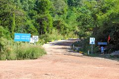 The road go to PREAH VIHEAR TEMPLE a world heritage of Cambodia kingdom of wonder Royalty Free Stock Photography