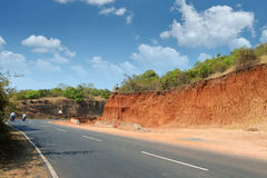 Road in Goa, India Royalty Free Stock Images