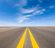Road in the gobi Stock Photos