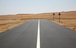 Road in Gobi Desert near Sainshand. Mongolia Stock Photos