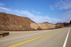 A road in  Gobi Desert in Neveda State of USA Stock Photography