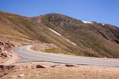Road going down Pike's Peak 5 Royalty Free Stock Image