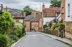 Free Road Going Into Shere Village Stock Photo - 33677320