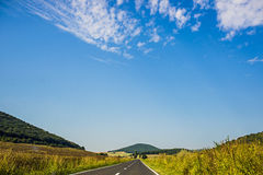 Road. Going through Romania country royalty free stock image