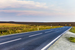 Road. Going through Romania country royalty free stock images