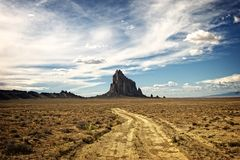 The Shiprock Butte in Northwest New Mexico Royalty Free Stock Photo