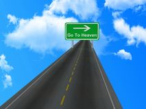 Road going to heaven Royalty Free Stock Photos