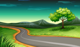 A road going to the mountain Stock Image