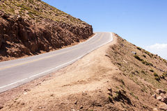 Road going up Pike's Peak 2 Royalty Free Stock Images