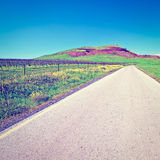 Road in Golan Royalty Free Stock Images