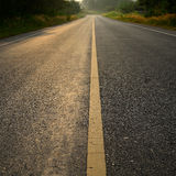 Road in golden sunset Royalty Free Stock Images