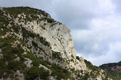 Road in Gorges de Galamus, France Royalty Free Stock Image