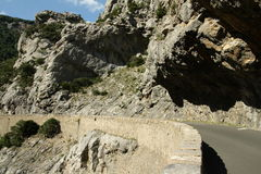 Road in Gorges de Galamus, France Stock Photography
