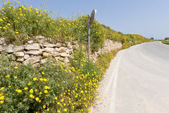 Road in Gozo, Malta Royalty Free Stock Images