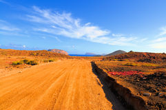 A road on Graciosa, Canary islands, Spain Royalty Free Stock Image
