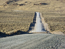 Road on grade through the Sagebrush Royalty Free Stock Photography