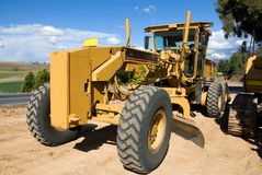A Road Grader Royalty Free Stock Photography