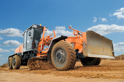 Road grader bulldozer Stock Photo