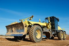 Road grader bulldozer Royalty Free Stock Photography