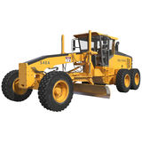 Road grader bulldozer over white. 3D illustration. Road grader bulldozer over white background. 3D illustration Stock Photo