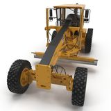 Road grader bulldozer over white. 3D illustration. Road grader bulldozer over white background. 3D illustration Stock Photos