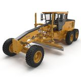 Road grader bulldozer over white. 3D illustration. Road grader bulldozer over white background. 3D illustration Royalty Free Stock Image