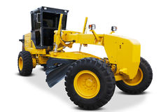 Road grader isolated on white background Royalty Free Stock Images