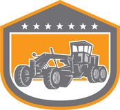 Road Grader Shield Retro Royalty Free Stock Photos