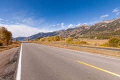 Road in grand tetons Stock Photos