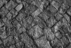 Road with granite cobblestone Stock Photography