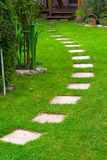 Road on the grass. Camping Royalty Free Stock Photos