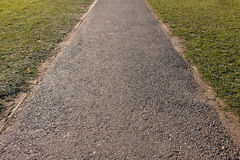 Road between Grass. The Pathway with Grass along sides Stock Image