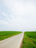 On The Road - grass and sky Stock Image
