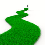 Road from grass on white. Isolated 3D Stock Images
