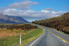 The road in the grassland Stock Photography