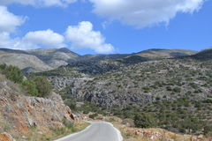 Road in Greece. Mountain road to Mani Peninsula royalty free stock photography