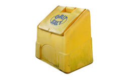 Road grit salt bin Royalty Free Stock Photo