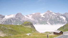 Road in Grossglockner in Austrian Alps stock video footage