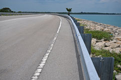 Road guide. On the high way Royalty Free Stock Photography
