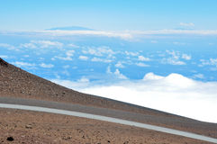 Road at Haleakala National Park, Hawaii Stock Photography