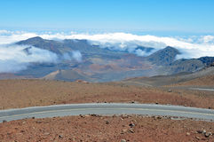 Road at Haleakala National Park, Maui (Hawaii) Stock Image
