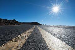 Road in haleakala national park, Maui, Hawaii Stock Images