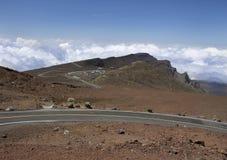 Road at Haleakala National Park, Maui, Hawaii Stock Image