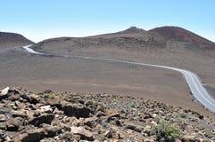 Road at Haleakala National Park, Maui (USA) Stock Images