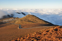 Road at Haleakala National Park, Maui (USA) Stock Photos