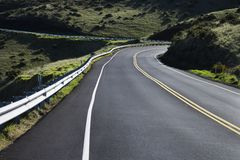 A road in Haleakala Park. royalty free stock images