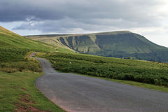 Road on Hay bluff, brecon beacons, powys, wales Royalty Free Stock Images