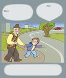 Road hazard Stock Image