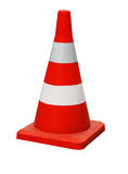 Road hazard cone. A Road hazard cone on white stock images