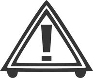 Road Hazard Triangle - Caution Warning Sign Stock Image